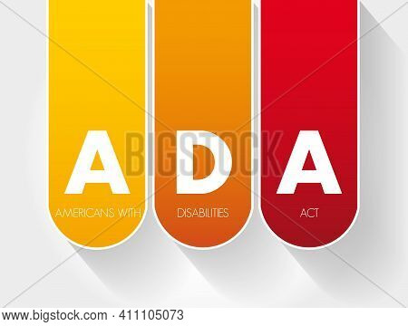 Ada - Americans With Disabilities Act Acronym, Concept Background