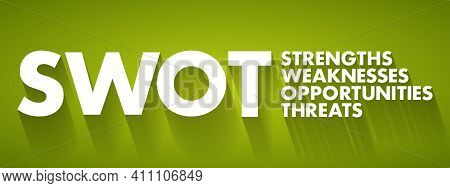 Swot Analysis Business Concept, Strengths, Weaknesses, Threats And Opportunities Of Company, Strateg