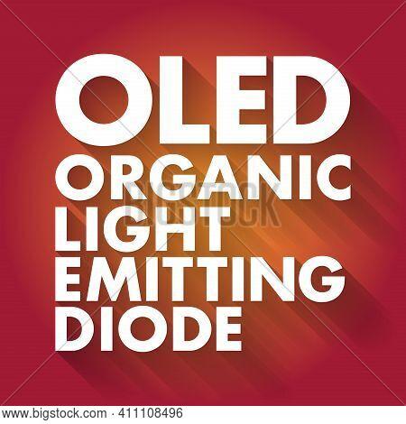 Oled - Organic Light-emitting Diode Acronym, Technology Concept Background