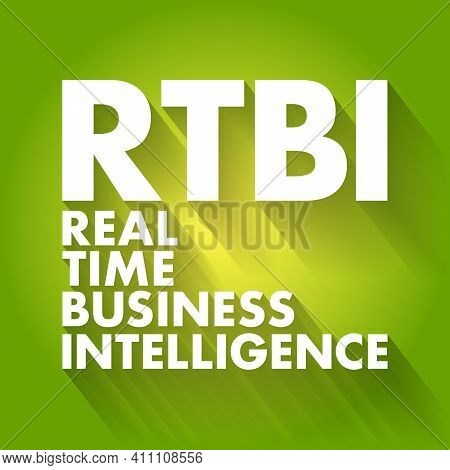 Rtbi - Real Time Business Intelligence Acronym, Business Concept Background