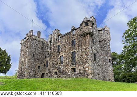 Perth , Scotland - May 25 , 2019 : Elcho Castle Is Located A Short Distance Above The South Bank Of