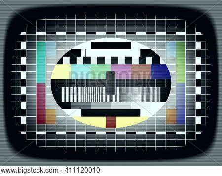 An illustration of a television test picture with scan lines