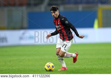 Milano, Italy. 03th March 2021 . Brahim Diaz Of Ac Milan  During The Serie A Match Between Ac Milan