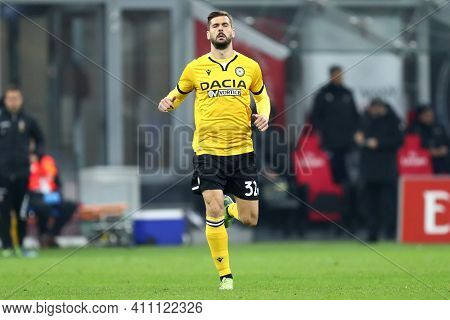 Milano, Italy. 03th March 2021 . Fernando Llorente Of Udinese Calcio  During The Serie A Match Betwe
