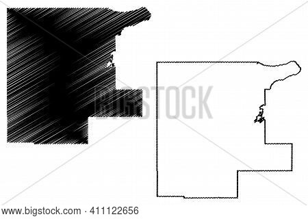 Noble County, Oklahoma State (u.s. County, United States Of America, Usa, U.s., Us) Map Vector Illus