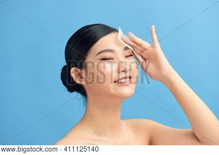 Beautiful Attractive Asian Woman Using Facial Oil Clean Film To Removal Oily On Face For Face Fresh