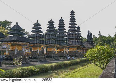 Hindu Meru Towers Of Pura Taman Ayun In Mengwi, Bali.
