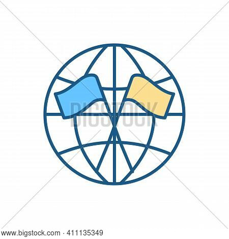 Diplomacy Rgb Color Icon. Diplomatic Mission. Managing International Relations. Being Country Repres