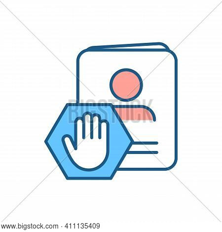 Citizenship Service Rgb Color Icon. Renewing Expiring, Expired Passports. Lost, Stolen Official Docu