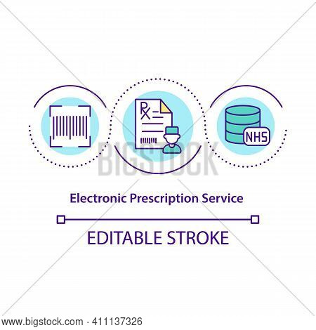 Electronic Prescription Service Concept Icon. Order Medication. E-prescription From Doctor. Online P