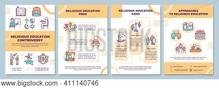 Religious Education Controversy Brochure Template. Pros And Cons. Flyer, Booklet, Leaflet Print, Cov