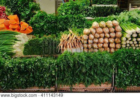 Bazar.market, Shop With Herbs. Parsley, Dill, Pumpkin, Sorrel, Green Onion, Radish, Spinach, Arugula