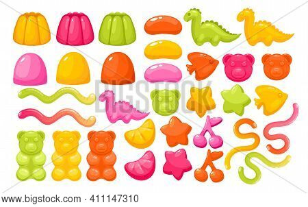 Jelly Gum Candy Sweets Set, Realistic Creative Funny Chewy Candy For Kids Collection