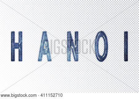Hanoi Lettering, Hanoi Milky Way Letters, Transparent Background, Clipping Path