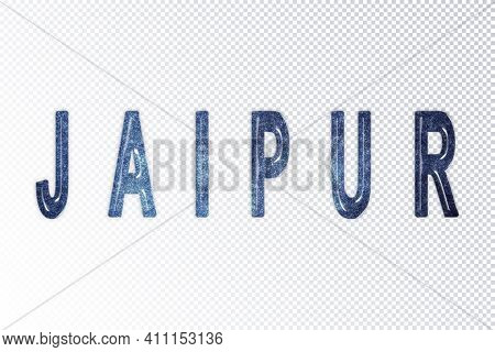 Jaipur Lettering, Jaipur Milky Way Letters, Transparent Background, Clipping Path