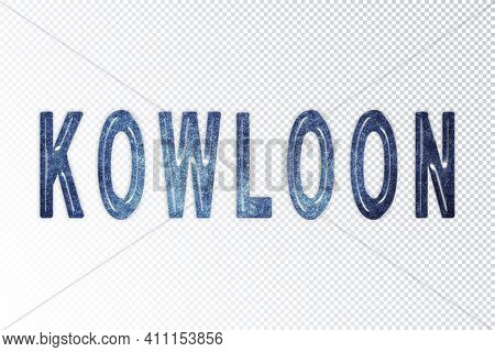 Kowloon Lettering, Kowloon Milky Way Letters, Transparent Background, Clipping Path