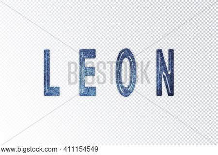 Leon Lettering, Leon Milky Way Letters, Transparent Background, Clipping Path