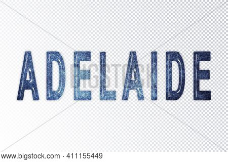 Adelaide Lettering, Adelaide Milky Way Letters, Transparent Background, Clipping Path