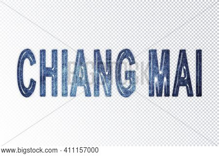 Chiang Mai Lettering, Chiang Mai Milky Way Letters, Transparent Background, Clipping Path