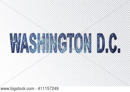 Washington Dc Lettering, Washington Dc Milky Way Letters, Transparent Background, Clipping Path