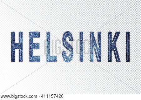 Helsinki Lettering, Helsinki Milky Way Letters, Transparent Background, Clipping Path
