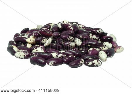 Bunch Of Beans White - Purple Color, Isolated On A White Background.