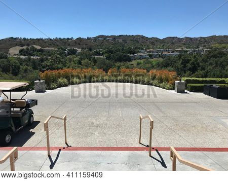 COTO DE CAZA, CALIFORNIA - JULY 20, 2019: View from the Clubhouse at the Coto de Caza Golf and Racquet Club.