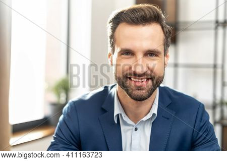 Stylish Trendy Modern Expensive Clothing Lifestyle Person Concept. Close Up Photo Portrait Of Attrac