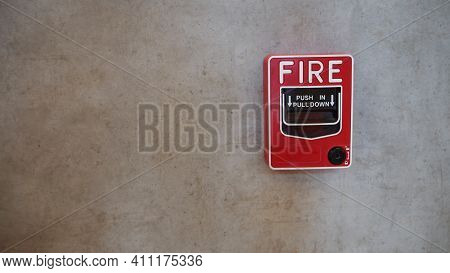 Emergency Of Fire Alarm System Notifier Or Alert Or Bell Warning Equipment Use When On Fire (manual