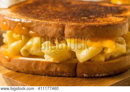 Homemade Grilled Macaroni And Cheese Sandwich