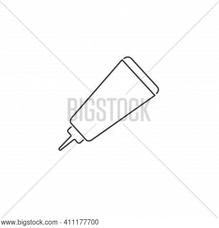 Glue Line Icon. Glue Design Concept From Collection. Simple Element Vector Illustration White Backgr