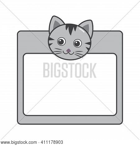 Illustration Cute And Funny Kittens Frame Can Place A Picture