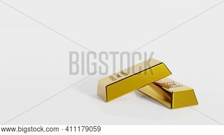 Close-up Gold Bullion Bars Concept Of Financial Wealth And Reserve. Precious Metal Investment As A S