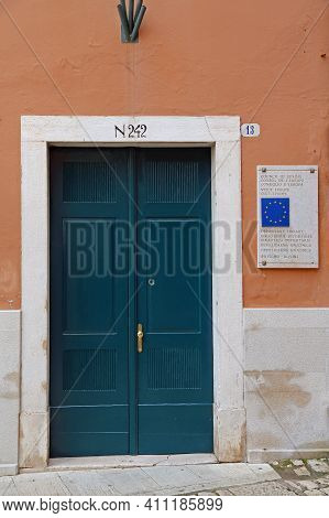 Rovinj, Croatia - October 15, 2014: Council Of Europe And Depositary Library Government Building In