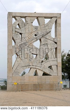 Rovinj, Croatia - October 16, 2014: World War Two Memorial Monument For Fallen Soldiers And Victims