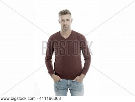 Masculinity Concept. Daily Outfit. Man Model Clothes Shop. Menswear And Fashionable Clothing. Man Lo