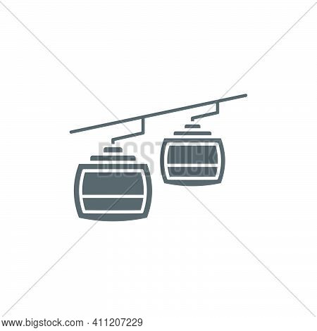 Cable Car Outline Icon Linear Style Sign For Mobile Concept And Web Design Funicular Simple Line