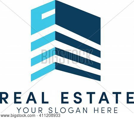 Real Estate Logo Design And Building Simple With Apartment Modern Logo