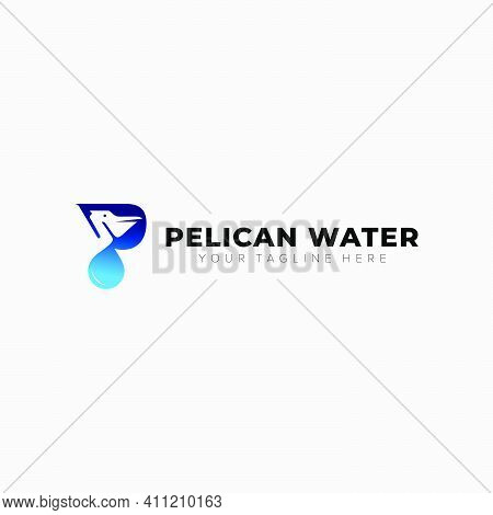 Pelican Water Initial P Logo Designs Abstract