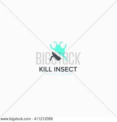 Kill The Insect Logo With Modern Insecticide Pest Killer