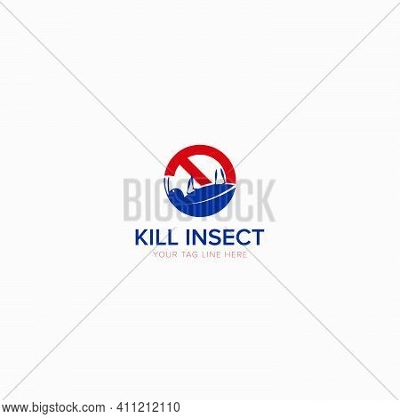Kill The Insect Logo With Modern Logo And Pest Control Logo