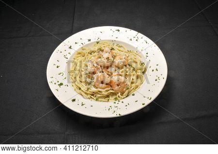 Delicious Italian Dish Known As Shrimp Scampi