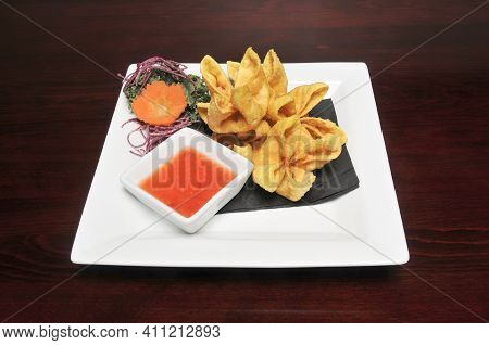 Authentic Traditional Japanese Cuisine Dish Known As Lobster Rangoon