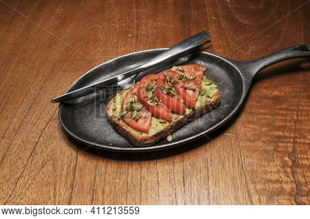 Traditional And Delectable Dish Known As Avocado Toast