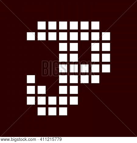 Initial Letter Jp Logo Template With Geometric Square Pixel Illustration In Flat Design Monogram Sym