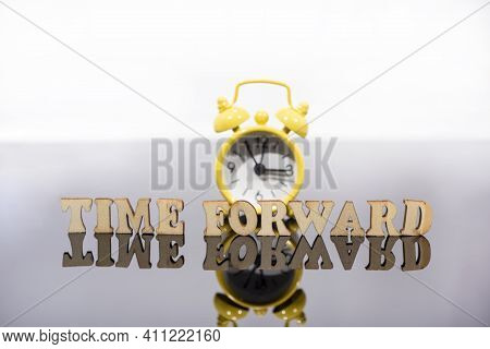 Daylight Saving Time. Dst. Wall Clock Going To Winter Time. Turn Time Forward. Abstract Photo Of Cha