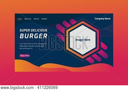 Abstract Landing Page Background / Landing Page Design