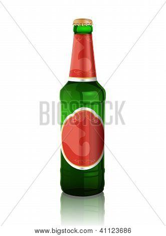 Vector illustration of beer bottle