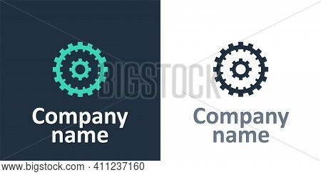 Logotype Bicycle Cassette Mountain Bike Icon Isolated On White Background. Rear Bicycle Sprocket. Ch