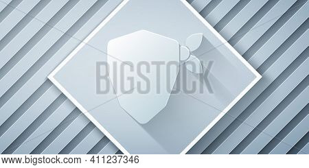 Paper Cut Vandal Icon Isolated On Grey Background. Paper Art Style. Vector